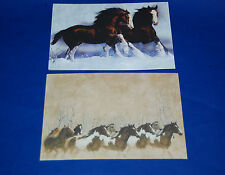 "#90031 HORSE/HORSES 5"" X 7"" BLANK GREETING CARDS AND ENVELOPES PACK OF FOUR"