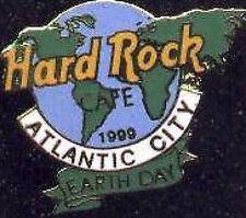Hard Rock Cafe ATLANTIC CITY 1999 EARTH DAY PIN Globe Planet