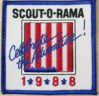 Scout-o-Rama 1988 Celebrate the Adventure! Patch Emblem Travel Souvenir Badge