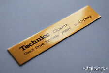 TECHNICS SL-1210 MK2 Turntable Plaque / Logo / Decal [GOLD] x 2 (HIGH QUALITY)