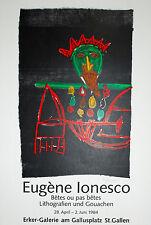 Eugène Ionesco-austellungsplakat-autografiada - 1984-Galería tembloroso