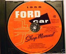 1956 Ford Car and Thunderbird Shop Manual (CD-ROM)