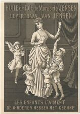1880s French/Dutch Cod Liver Oil Medicine for Children Trade Card