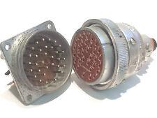 32 Conectores de bloqueo Way pesado deber ITT CANON 32 Pin Plug & Socket par ad1u8