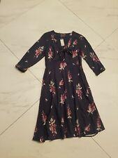 Beautiful Feminine Navy LAURA ASHLEY Dress 8  RRP £85