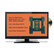 22 Inch Slim FULL HD 12v Volt LED TV DVD Player & Freeview Satellite Tuner VESA