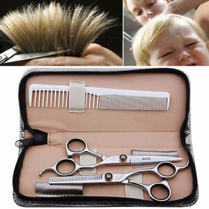 Hairdressing Scissor Sets Kit Barber Hair Cutting Thinning Shears Professional