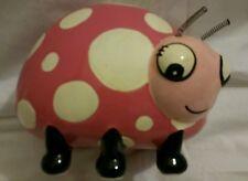 Ladybug ceramic pink Piggy Bank   Csk