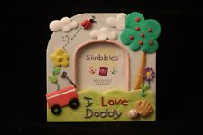 I Love Daddy Skribbles Message Photo Frame Handpainted (BNIB)