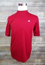 Adidas Three Stripe Red ClimaLite Soccer Running Training Shirt Men's Size M