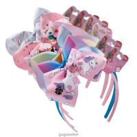 6 Pcs Unicorn Fabric HairBand Girls Headband Hair Bow Kids Bows Hair Accessories