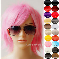 Women Men Wig Cosplay Costume Bob Party Wavy Hair Anime Wigs Long Hairpieces NEW