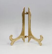 9977252 Messing Teller-Aufsteller Ständer Antikstil H23cm