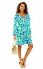 NWT Lilly Pulitzer Fleur Dress Agate Green Lazy River sz Medium $188