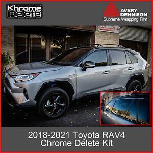 Chrome Delete Wrap for the 2018-2021 Toyota RAV4