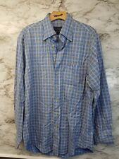 Scott Barber Multi Color Long Sleeve Button Front Shirt Mens Sz M Blue #13