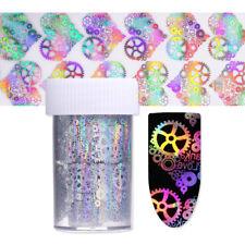 4*100cm Holographic Nail Art Foil Heart Starry Gear Laser Transfer Sticker #2