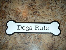 """Dogs Rule  2"""" x 7"""" Bone Shaped Car Magnets MADE IN USA"""