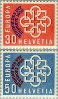 EBS Switzerland Helvetia 1959 Pro Patria - Swiss Minerals Fossils 681-682 MNH*