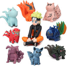 Naruto Bijuu Hachimata Raijuu Anime 11PCS Action Figure Collection Kids Toy Gift