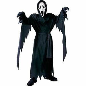 Scream Ghost Face Halloween Costume for Boys, Large, with Robe Mask and Belt