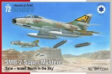 "DASSAULT SUPER MYSTERE B2 ""Sa'ar"" ISRAEL A.F.  SPECIAL HOBBY 1/72 Plastic Kit"