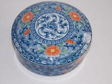 PIER 1 Porcelain Round Colorful Trinket Box