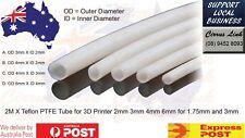 3D Printer Upgrade Parts 2 Meters PTFE Teflon Bowden Tube 1.75mm 3mm 2mm 4mm 6mm