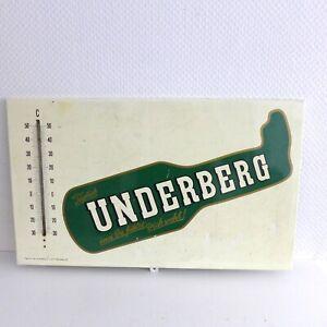 Underberg- Original altes Reklameschild mit Thermometer !