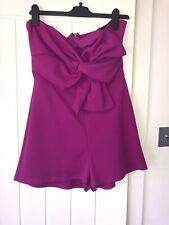 New Look Size 12 Purple Bardot Playsuit BNWT RRP£24.99 Party Outfit