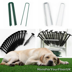 Artificial Grass Pins, Membrane Pegs, Astro Turf Fixing Kit, CHEAPEST on EBAY!