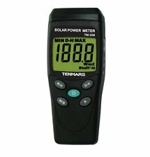 New TENMARS TM-206 Ambient Weather Solar Power Radiation Meter (Pyranometer)
