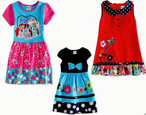 Kids Girls Dress Party Embroidery Short Sleeves Party Dress Cotton 2 to 6 Years