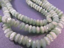 Green Cat's Eye Faceted Roundel 8mm Beads 98pcs