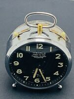 VINTAGE WEHRLE ALARM CLOCK 3 IN 1 CLOCK REPEATER & STRIKING ,GERMANY. WORKING