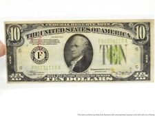 1934 Ten Dollar Green Seal Bearer Note US Federal Reserve $10 Bill Currency