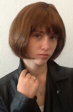 BROWN BOB FEMALE FANCY DRESS WIG