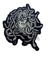 Medusa EMROIDERED IRON ON SEW ON BADGE MC BIKER PATCH