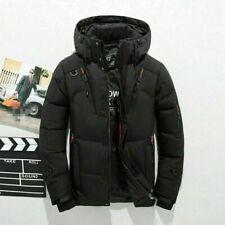 Men's Duck Down Jacket Snow Hooded Coat Climbing Oversize Black SIZE M #5