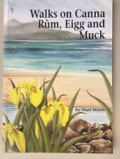 RARE SIGNED BOOK- WALKS ON CANNA RUM, EIGG AND MUCK (MARY WELSH) -VERY GOOD