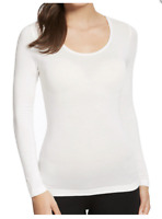 Ladies New M&S Cream Thermal Long Sleeve T-shirt Top in Womens Size14-18 RRP £15