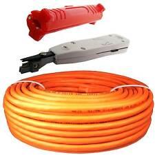 25m Cat.7 Verlegekabel Netzwerk Kabel Kupfer LAN Gigabit PIMF Abisolierer  LSA