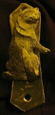 Otter Solo Door Knocker in Bronze