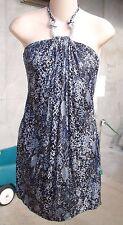 NWT Sky Brand Blue Black Halter Dress S NEW