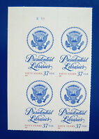 Sc # 3930 ~ Plate # Block ~ 37 cent Presidential Libraries Issue (dc31)