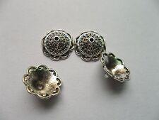 30pcs beautiful Tibet silver Flower End Beads Caps 13x5mm