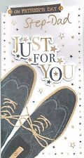 STEP-DAD ~ Quality FATHER'S DAY Card Shoes Design Fathers Day