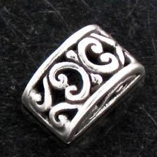 "Silver Design Component finding 3/8x1/4"" Bali Scroll 925 Sterling"