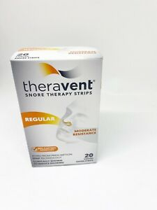 Theravent Regular Snore Therapy Strips Sealed Box EXP 06/2020