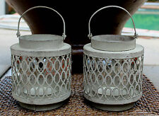 PAIR of  French  Style  Rustic  Metal Lanterns    BRAND NEW